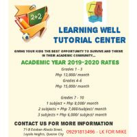 Learning Well Tutorial Center